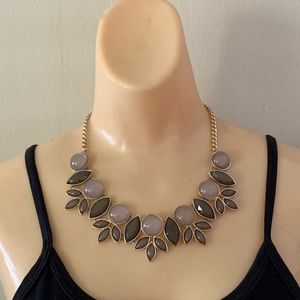 Banana Republic Taupe/Purple Statement Necklace